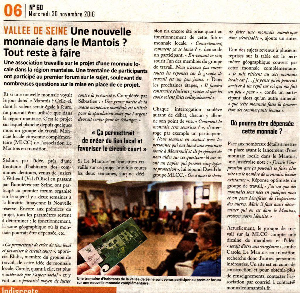 Gazette du Mantois - Edition du 30 Novembre 2016